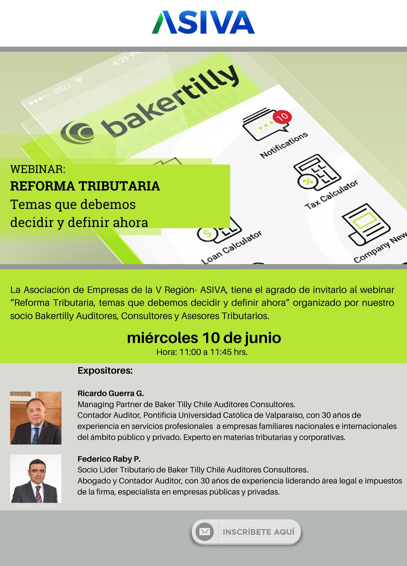 """Webinar """"Reforma Tributaria, temas que debemos decidir y definir ahora"""""""